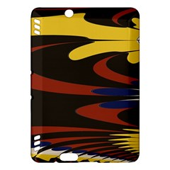 Peacock Abstract Fractal Kindle Fire HDX Hardshell Case