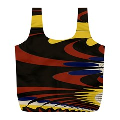 Peacock Abstract Fractal Full Print Recycle Bags (L)