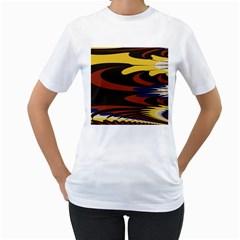Peacock Abstract Fractal Women s T-Shirt (White)