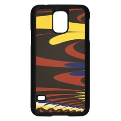 Peacock Abstract Fractal Samsung Galaxy S5 Case (Black)