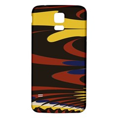 Peacock Abstract Fractal Samsung Galaxy S5 Back Case (White)