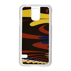 Peacock Abstract Fractal Samsung Galaxy S5 Case (White)
