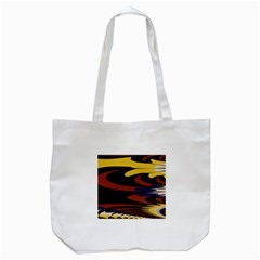 Peacock Abstract Fractal Tote Bag (White)