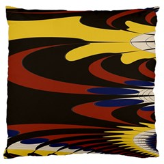 Peacock Abstract Fractal Large Flano Cushion Case (One Side)