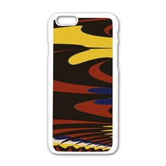 Peacock Abstract Fractal Apple iPhone 6/6S White Enamel Case