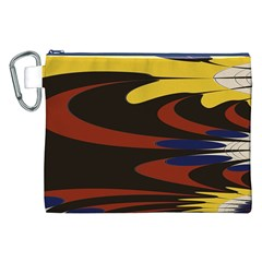Peacock Abstract Fractal Canvas Cosmetic Bag (xxl)