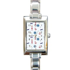 Seaside Nautical Themed Pattern Seamless Wallpaper Background Rectangle Italian Charm Watch