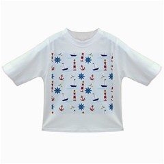 Seaside Nautical Themed Pattern Seamless Wallpaper Background Infant/toddler T Shirts