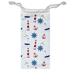 Seaside Nautical Themed Pattern Seamless Wallpaper Background Jewelry Bag
