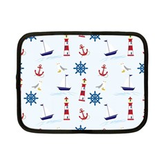 Seaside Nautical Themed Pattern Seamless Wallpaper Background Netbook Case (small)