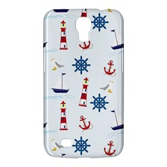 Seaside Nautical Themed Pattern Seamless Wallpaper Background Samsung Galaxy Mega 6.3  I9200 Hardshell Case