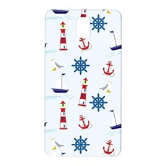 Seaside Nautical Themed Pattern Seamless Wallpaper Background Samsung Galaxy Note 3 N9005 Hardshell Back Case