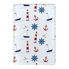 Seaside Nautical Themed Pattern Seamless Wallpaper Background Samsung Galaxy Tab Pro 10.1 Hardshell Case