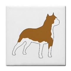 American Staffordshire Terrier  Silo Color Tile Coasters