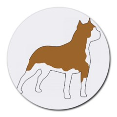 American Staffordshire Terrier  Silo Color Round Mousepads