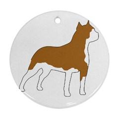 American Staffordshire Terrier  Silo Color Ornament (Round)