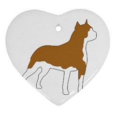 American Staffordshire Terrier  Silo Color Ornament (Heart)
