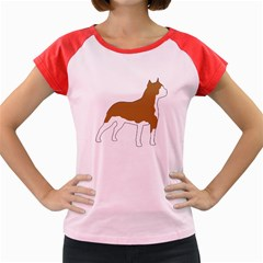 American Staffordshire Terrier  Silo Color Women s Cap Sleeve T-Shirt