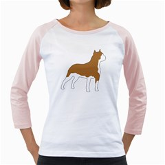 American Staffordshire Terrier  Silo Color Girly Raglans