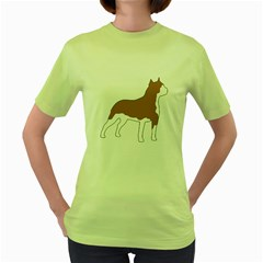 American Staffordshire Terrier  Silo Color Women s Green T-Shirt