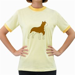 American Staffordshire Terrier  Silo Color Women s Fitted Ringer T-Shirts