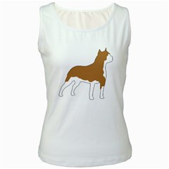 American Staffordshire Terrier  Silo Color Women s White Tank Top