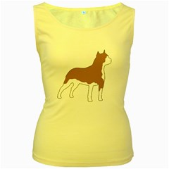 American Staffordshire Terrier  Silo Color Women s Yellow Tank Top