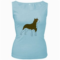 American Staffordshire Terrier  Silo Color Women s Baby Blue Tank Top