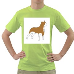 American Staffordshire Terrier  Silo Color Green T-Shirt