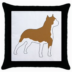 American Staffordshire Terrier  Silo Color Throw Pillow Case (Black)