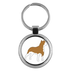 American Staffordshire Terrier  Silo Color Key Chains (Round)