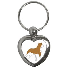 American Staffordshire Terrier  Silo Color Key Chains (Heart)