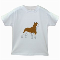 American Staffordshire Terrier  Silo Color Kids White T-Shirts