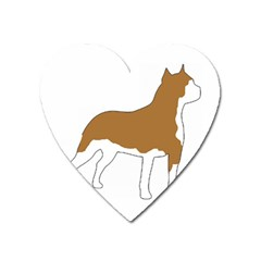 American Staffordshire Terrier  Silo Color Heart Magnet