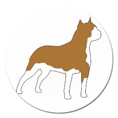 American Staffordshire Terrier  Silo Color Magnet 5  (Round)