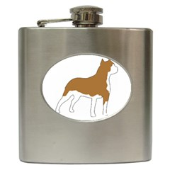 American Staffordshire Terrier  Silo Color Hip Flask (6 oz)
