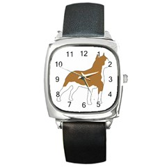 American Staffordshire Terrier  Silo Color Square Metal Watch
