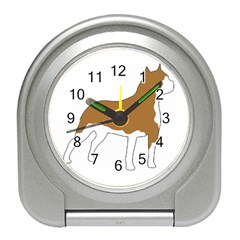American Staffordshire Terrier  Silo Color Travel Alarm Clocks