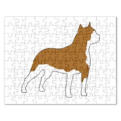 American Staffordshire Terrier  Silo Color Rectangular Jigsaw Puzzl