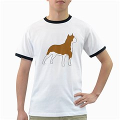 American Staffordshire Terrier  Silo Color Ringer T-Shirts