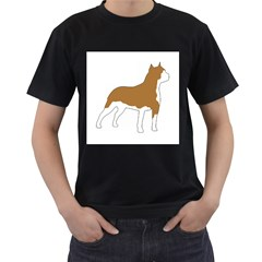 American Staffordshire Terrier  Silo Color Men s T-Shirt (Black) (Two Sided)