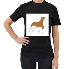 American Staffordshire Terrier  Silo Color Women s T-Shirt (Black) (Two Sided)