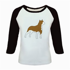American Staffordshire Terrier  Silo Color Kids Baseball Jerseys