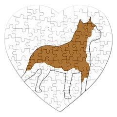 American Staffordshire Terrier  Silo Color Jigsaw Puzzle (Heart)