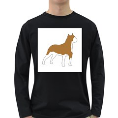 American Staffordshire Terrier  Silo Color Long Sleeve Dark T-Shirts