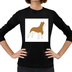 American Staffordshire Terrier  Silo Color Women s Long Sleeve Dark T-Shirts