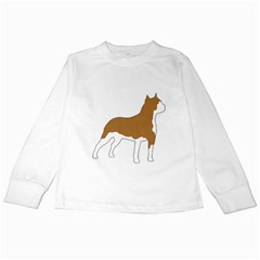 American Staffordshire Terrier  Silo Color Kids Long Sleeve T-Shirts