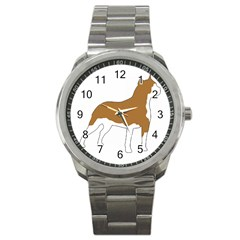 American Staffordshire Terrier  Silo Color Sport Metal Watch