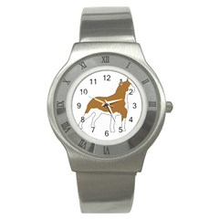American Staffordshire Terrier  Silo Color Stainless Steel Watch