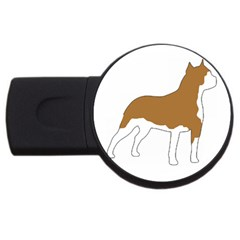 American Staffordshire Terrier  Silo Color USB Flash Drive Round (4 GB)